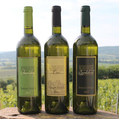 Csobánc Hill wine selection